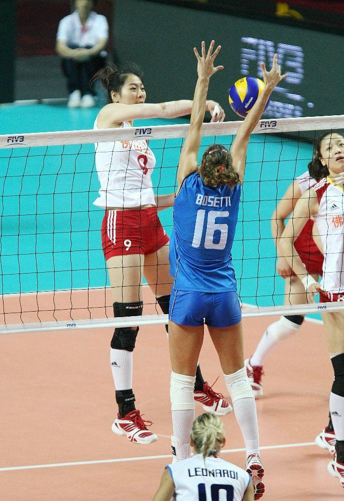 La nazionale femminile di volley - Italia vs Cina