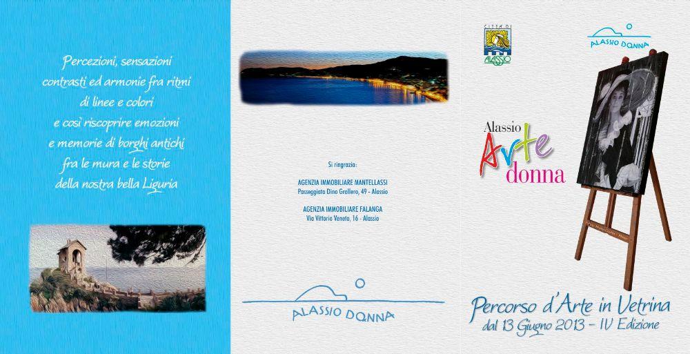 alassio arte donna - percorso d'arte in vetrina - brochure FRONTE
