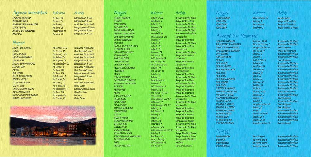 alassio arte donna - percorso d'arte in vetrina - brochure INTERNO