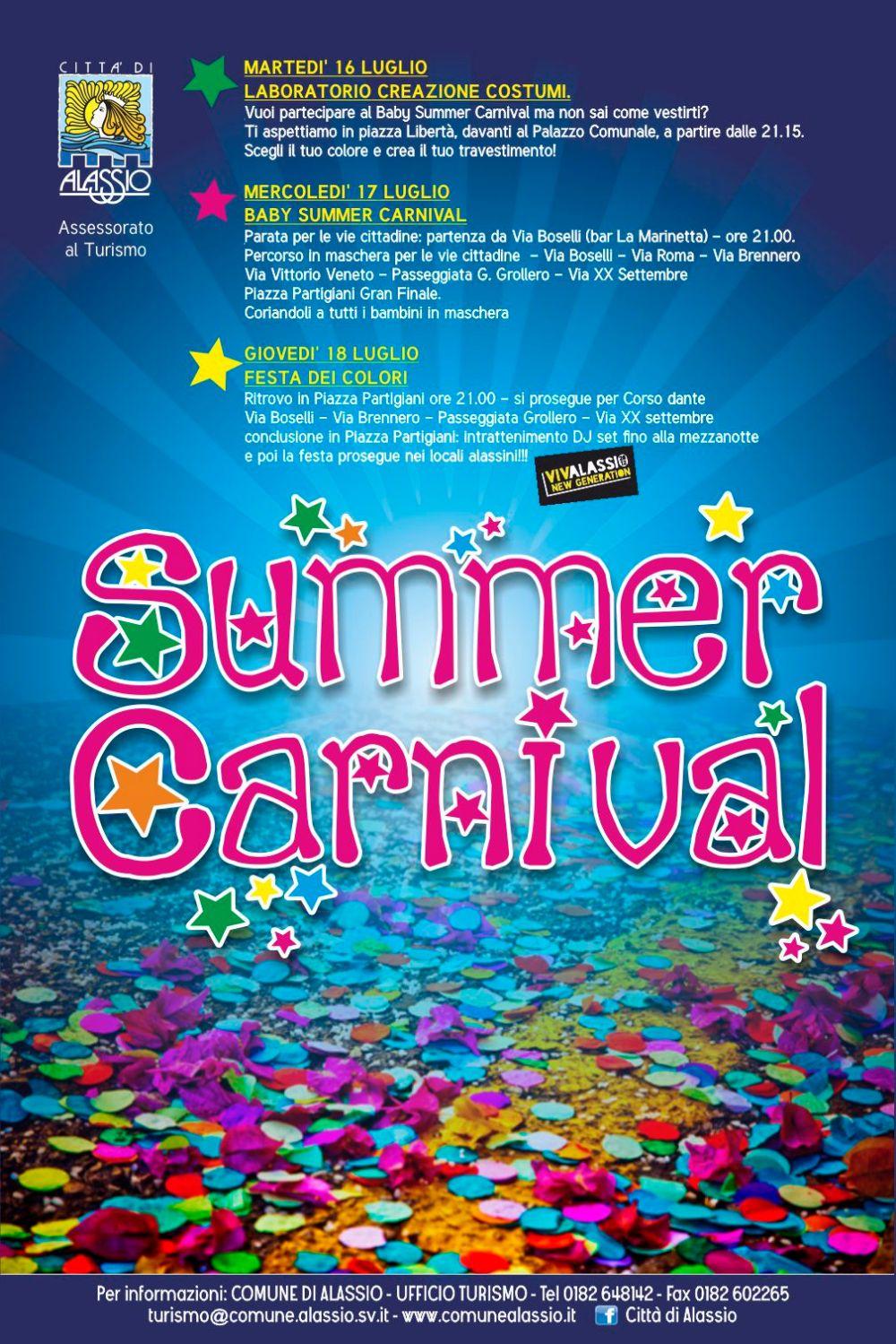 Alassio summer carneval 2013 - manifesto
