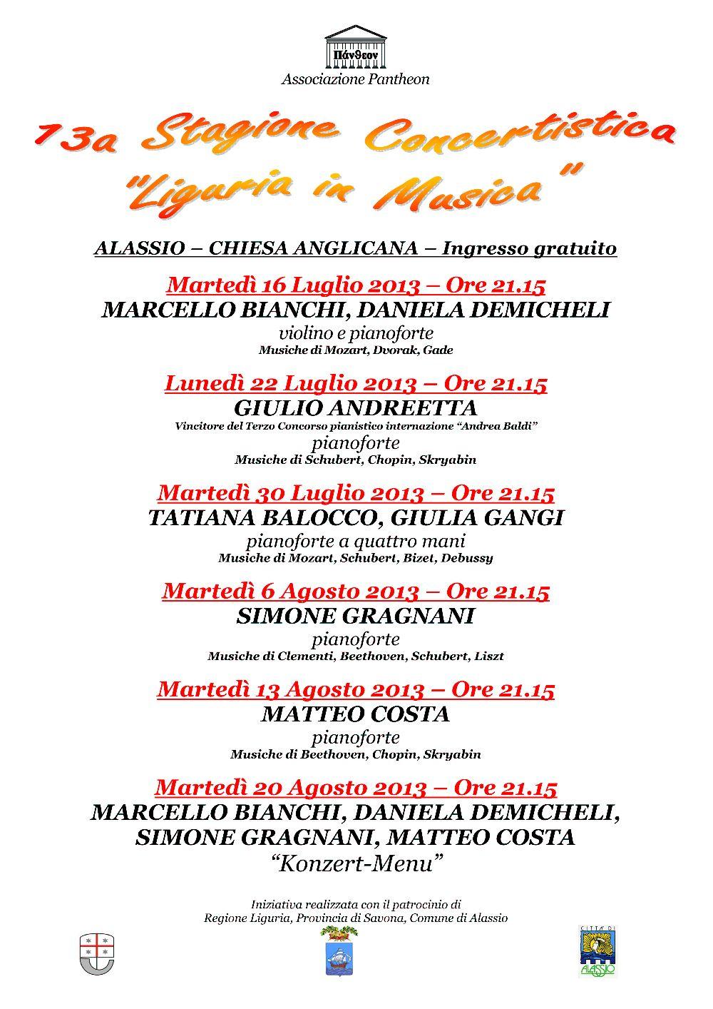 Locandina Liguria in Musica