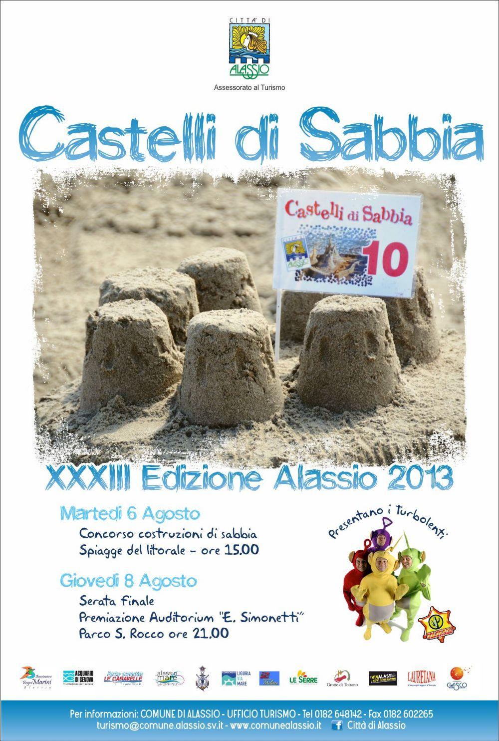 alassio - castelli di sabbia locandina