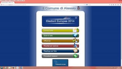 La sezione del sito dedicata alle elezioni europee