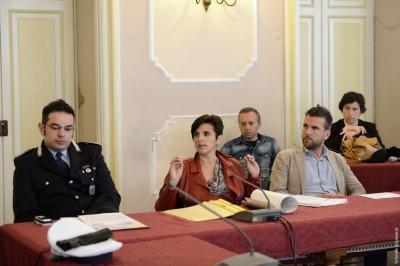 La presentazione con l'assessore comunale allo Sport Simone Rossi
