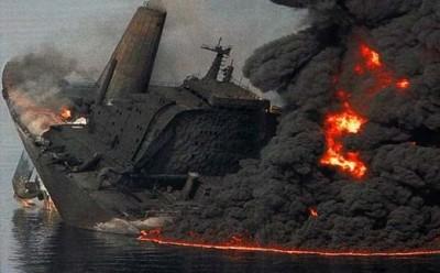 Il naufragio della petroliera