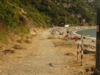 La spiaggia libera oggetto dell'intervento
