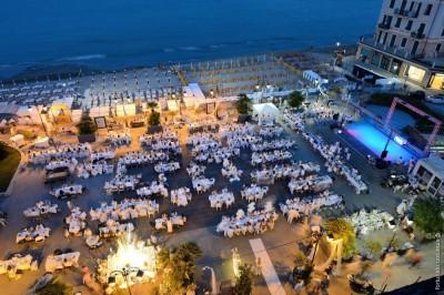 Cena in bianco immagine dall'alto