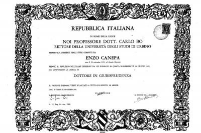 Laurea Enzo Canepa