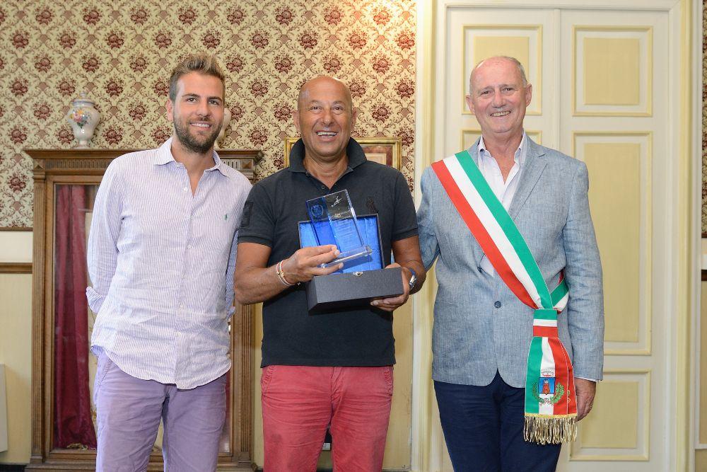 con l'Assessore al Turismo Simone Rossi e il Sindaco Enzo Canepa