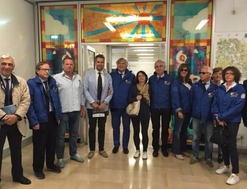Delegazione Aces Europe in visita alle strutture sportive del territorio