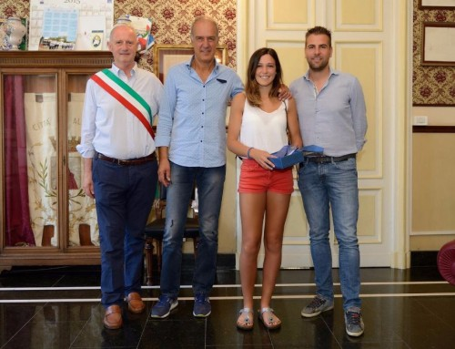 Alassio premia i suoi campioni: cerimonia in Comune con l'atleta Luminosa Bogliolo
