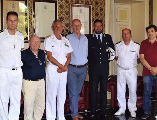 L'Ammiraglio Giovanni Pettorino in visita ad Alassio