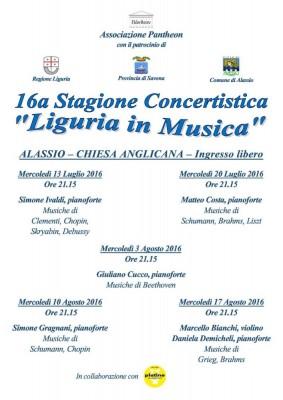 Liguria in musica 2016