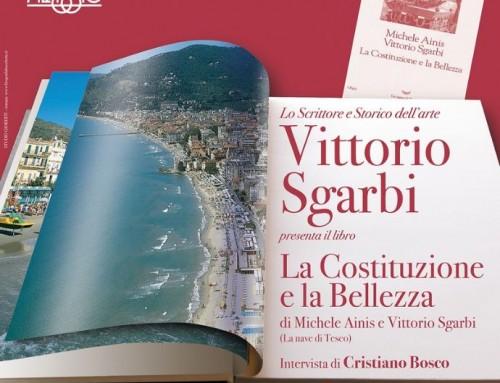 """Vittorio Sgarbi ad Alassio per presentare """"La Costituzione e la Bellezza"""""""