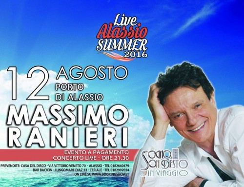 Live Alassio Summer 2016: sale l'attesa per Massimo Ranieri
