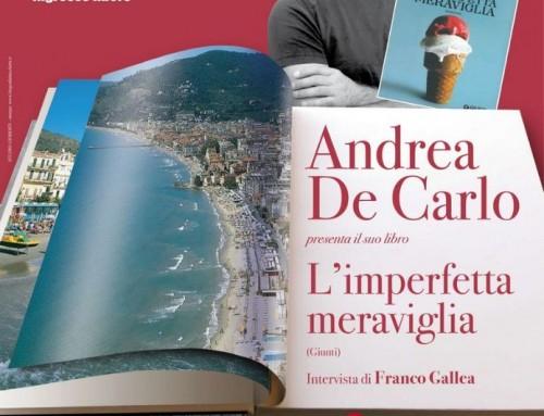 """Andrea De Carlo ad Alassio per presentare """"L'imperfetta meraviglia"""""""