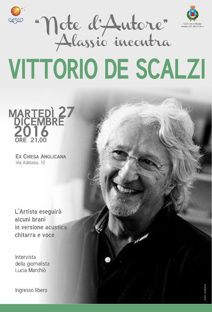 """""""Note d'Autore"""", Alassio incontra Vittorio De Scalzi"""