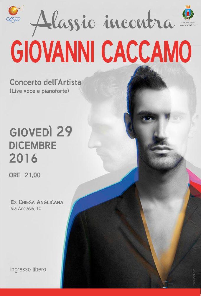 Giovanni Caccamo in concerto ad Alassio