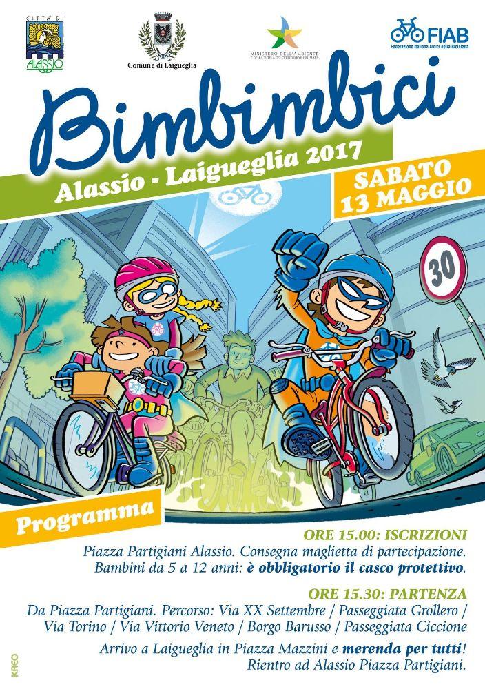 Tutto pronto per la nuova edizione di Bimbimbici, pedalata da Alassio a Laigueglia
