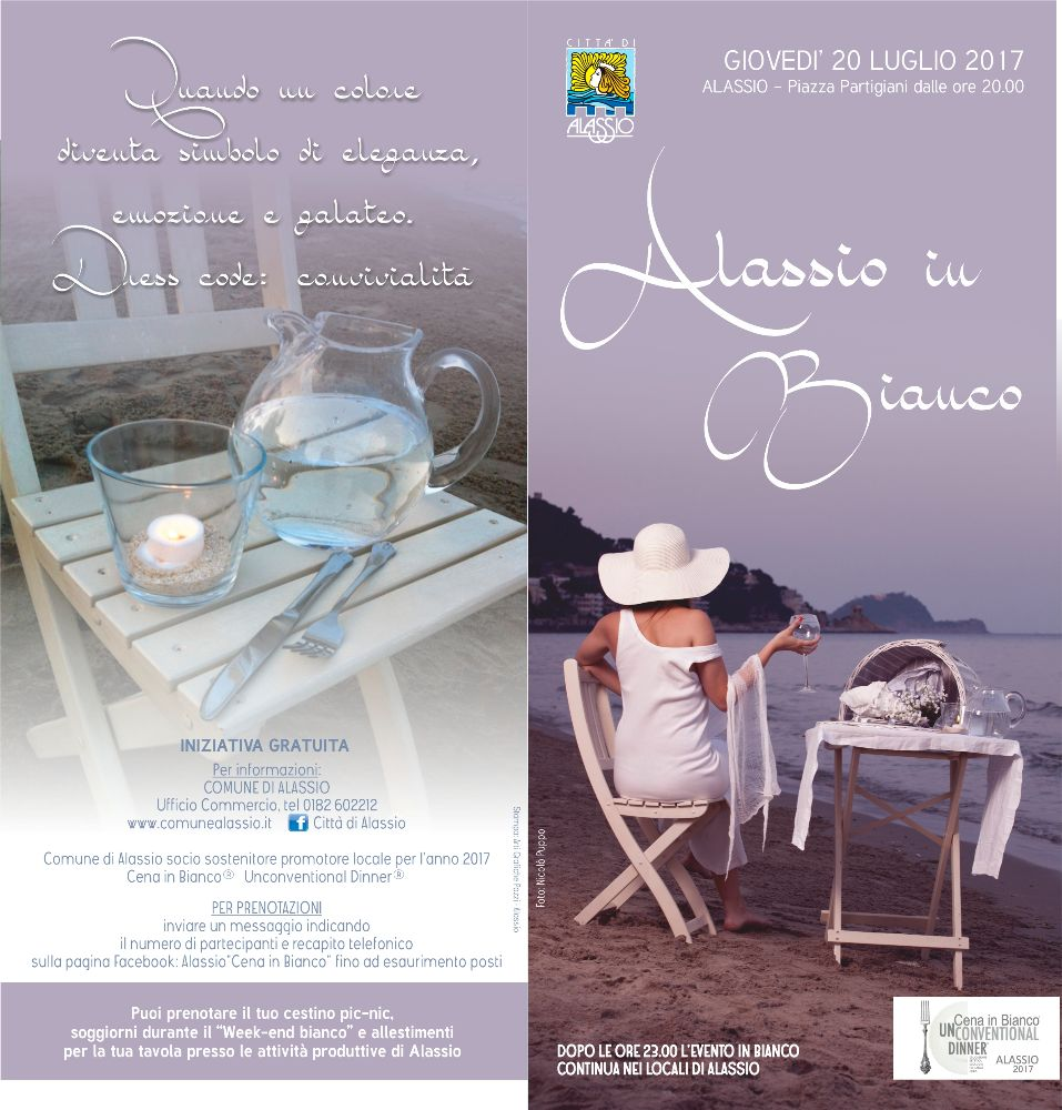 """Ritorna """"Alassio in Bianco"""", la cena più esclusiva dell'estate"""