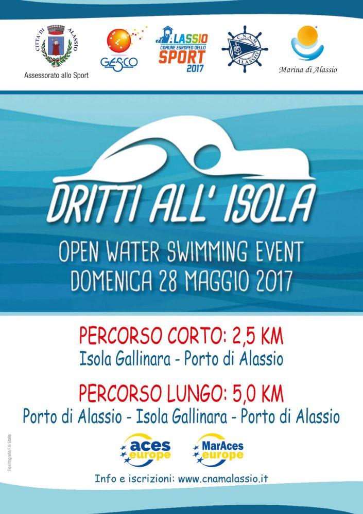 """""""Dritti all'Isola"""", una gara di nuoto dall'Isola Gallinara al Porto"""