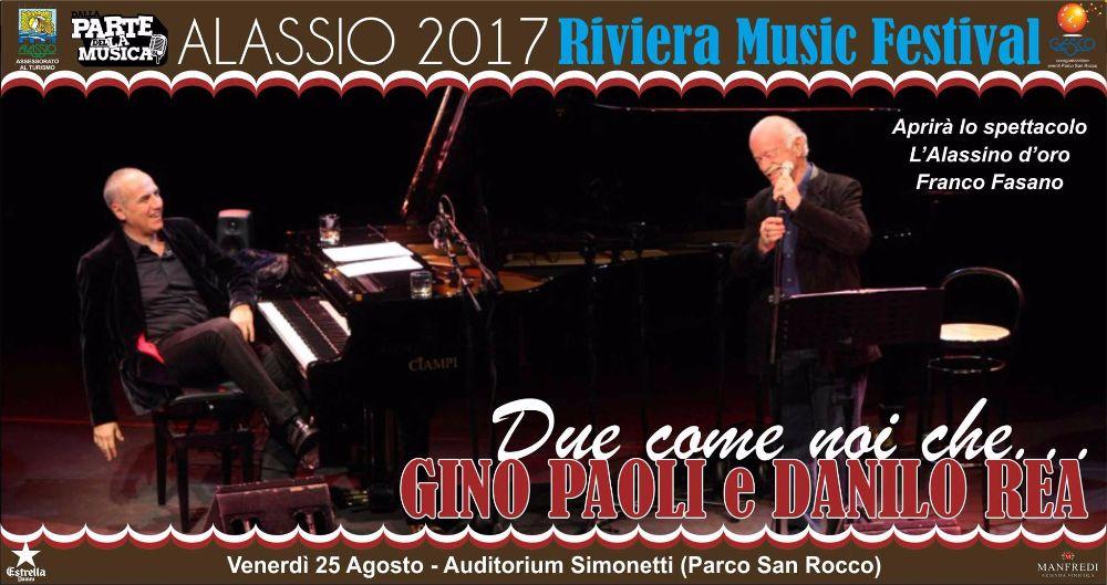Gino Paoli chiude gli appuntamenti a Parco San Rocco per il Riviera Music Festival Alassio 2017