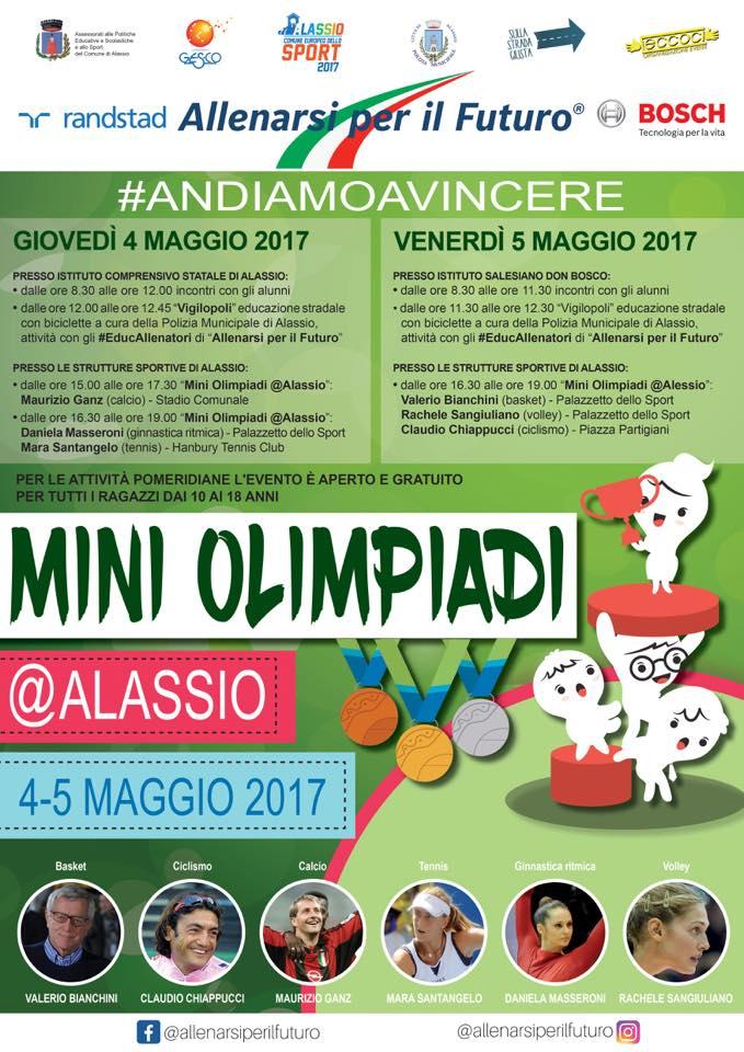 """I campioni dello sport in arrivo ad Alassio per le """"Mini Olimpiadi"""""""