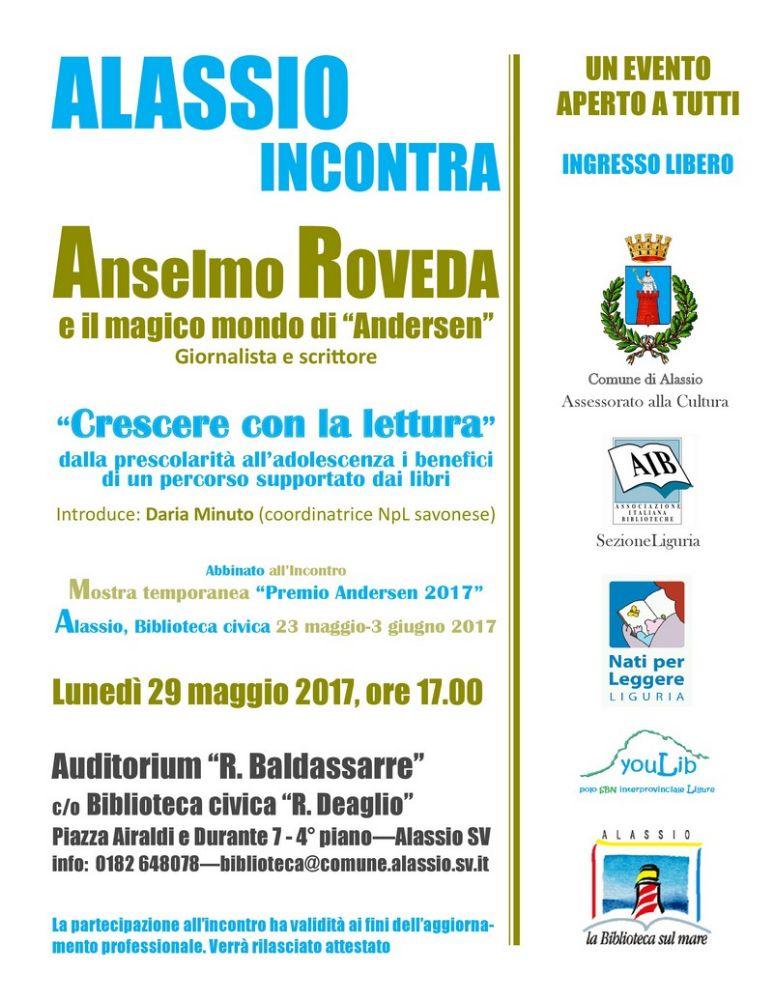"""Lunedì 29 maggio, Alassio incontra Anselmo Roveda e il magico mondo di """"Andersen"""""""