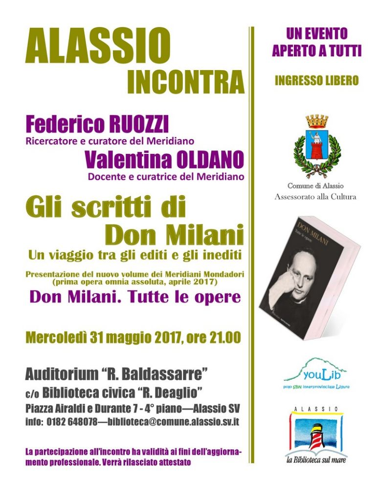 Una serata su don Milani con Federico Ruozzi e Valentina Oldano