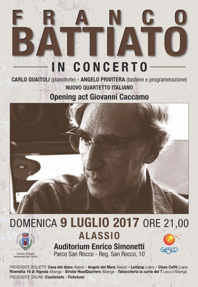 Ultimi posti disponibili per il concerto di Franco Battiato ad Alassio