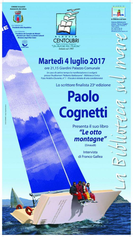 """Alassio 100 Libri – Un Autore per l'Europa: il finalista Paolo Cognetti presenta """"Le otto montagne"""""""