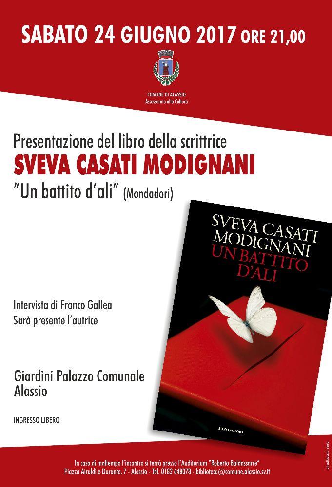 """Sveva Casati Modignani ad Alassio per presentare """"Un battito d'ali"""""""