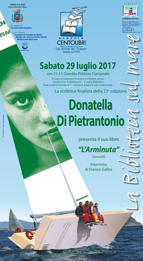 """Alassio 100 Libri – Un Autore per l'Europa: Donatella Di Pietrantonio presenta """"L'Arminuta"""""""