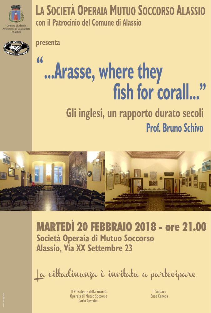 "Alla SOMS la conferenza ""…Arasse, where they fish corall…"""
