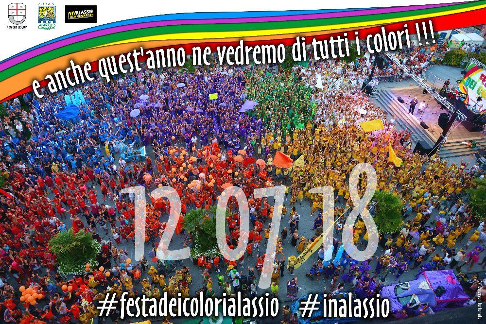"""""""#FestadeiColoriAlassio"""":  il fiume colorato è pronto a inondare Alassio"""