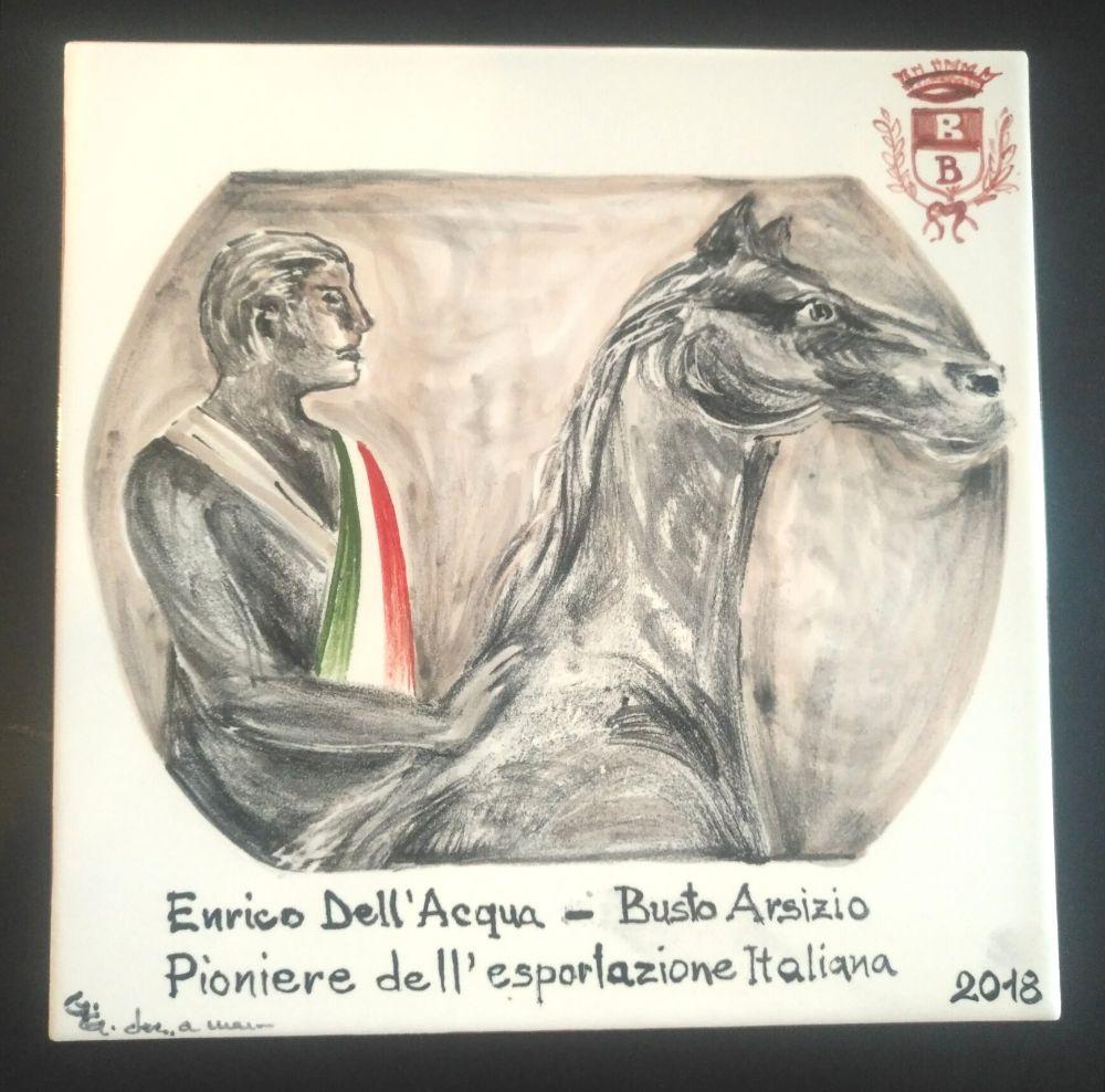 Sul Muretto di Alassio una piastrella intitolata ad Enrico Dell'Acqua