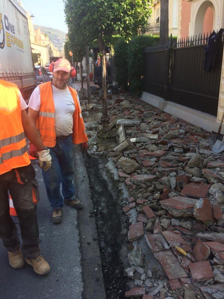 Lavori in corso: dopo Piazza Paccini e Piazza Airaldi Durante via ai marciapiedi di Via Mazzini e Via Torino