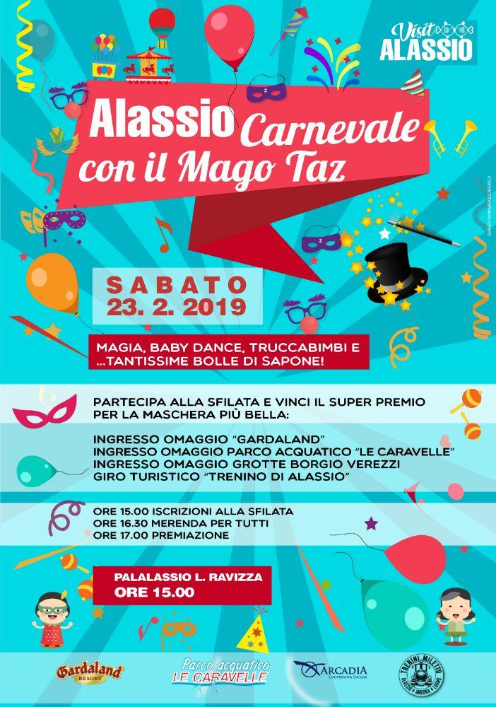 Carnevale ad Alassio con il Mago Taz