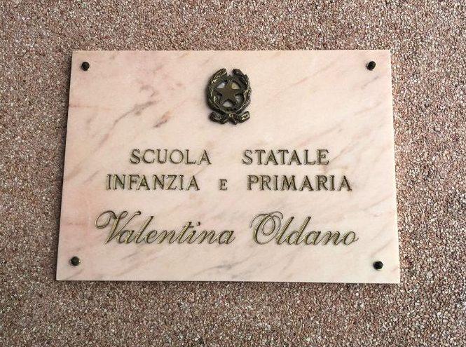 Intitolata stamattina a Valentina Oldanola Scuola d'Infanzia e Primaria di Via Neghelli