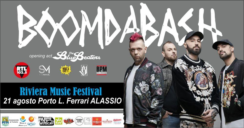 """Il Riviera Music Festival """"esplode il colpo"""", i Boomdabash, la band del momento, arrivano ad Alassio!"""