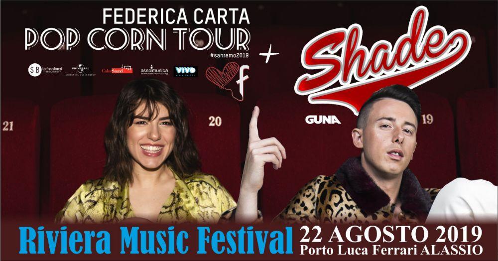 Ci sarà anche Shade con Federica Carta al Riviera Music Festival Alassio 2019