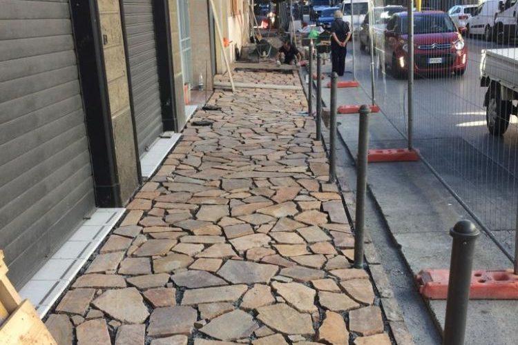 Avviati i lavori sui marciapiedi di Corso Europa