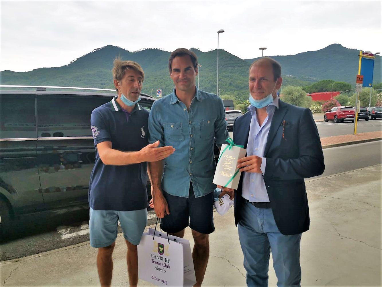 Federer al Riviera Airport: conosco Alassio e l'Hanbury Tennis Club
