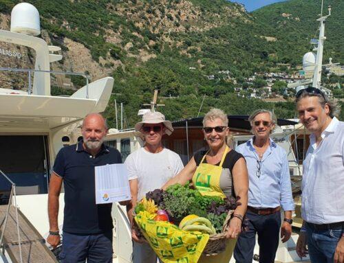 Marina di Alassio Sea Experience: l'Assessore Mai testimonial del progetto prodotti a km zero in barca